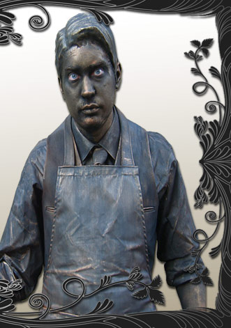 The Shopkeeper Living Statue