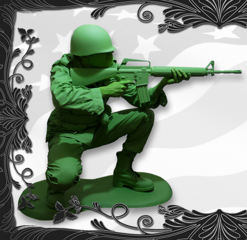 Toy Soldier Human Statue